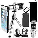 YOPO Camera Lens Kit for iPhone 6 6s Plus -Telephoto Lens+Fish Eye+Macro & Wide Angle Lens