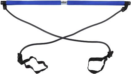 Barre De Bande Longue R/ésistance Yoga Pilates Stick Yoga Exercise Bar pour Lentra/înement De Musculation winnerruby Kit De Barre De Pilates Portable avec Bande De R/ésistance
