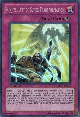 Yu-Gi-Oh! - Ninjitsu Art of Super-Transformation (ORCS-EN075) - Order of Chaos - 1st Edition - Super Rare