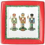 "Christmas Plates Christmas Paper Plates Christmas Party Supplies Dinner Plate 10.25"" Nutcracker 16 Pc"