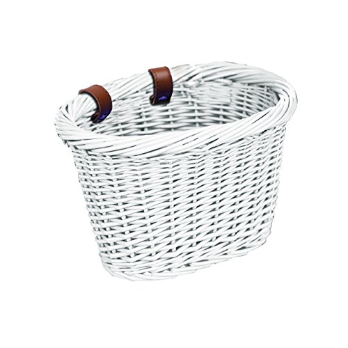 Bell Tote 300 Small Wicker Basket Front Handlebar – White