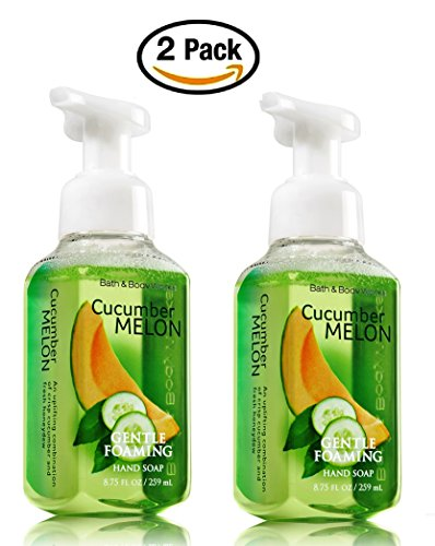Bath & Body Works, Gentle Foaming Hand Soap, Cucumber Melon (2-Pack) Melon Foaming Soap