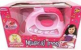 NEW LITTLE GIRLS MUSIC IRON TOY PRETEND PLAY HOME DOLLS KIDS LIGHT & SOUND XMAS
