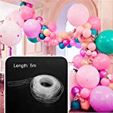 TIFENNY 5m Balloon Chain Tape Arch Connect Strip for Wedding Birthday Party Decor (A, 5m)