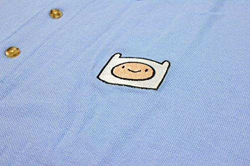 We Love Fine Adventure Time Cartoon Network Animated Finn Men's Polo Shirt (Medium) by Welovefine (Image #1)