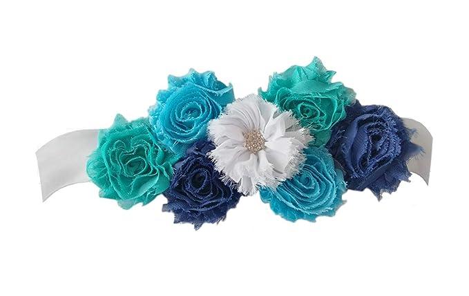 Amazon.com: Cinturón de satén para maternidad con flores ...