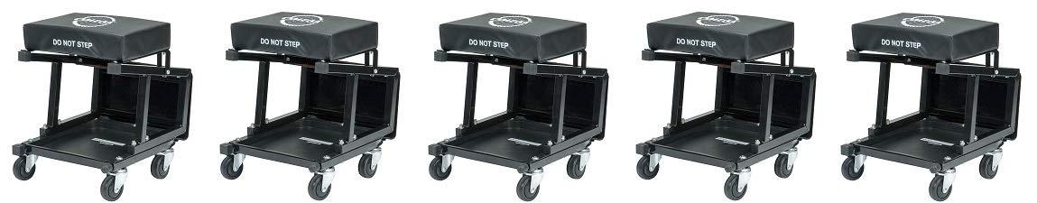 Omega Lift 91305 Omega Lift 2-in-1 Mechanics Creeper Seat/Step Stool, 7.88'' Height, 17.72'' Width, 15.75'' Length (5-(Pack))