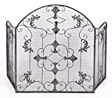 Hampbridge Grange French Shabby Chic Style Fire Guard / Screen - Vintage Bronze Finish by Black Country Metal Works