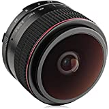Opteka 6.5mm f/2 HD MC Manual Focus Fisheye Lens for Olympus Micro 4/3 Mount Digital Cameras