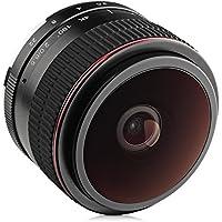 Opteka 6.5mm f/2 HD MC Manual Focus Fisheye Lens for Fuji X Mount APS-C Digital Cameras