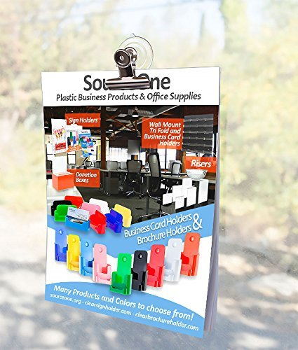 Source One Premium Large Suction Cup With Heavy Duty Clamp Perfect for Holding Signs onto Windows (24 Pack)