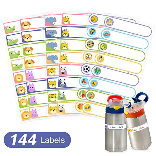 Baby Bottle Labels Waterproof, Self-Laminating Write-On Name Labels