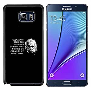 SKCASE Center / Funda Carcasa protectora - Cita Ciencia Inspiring - Samsung Galaxy Note 5