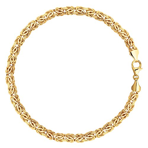14K Yellow Gold Byzantine Style Link Bracelet, 7.25'' by JewelryAffairs