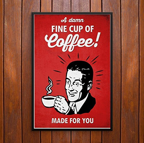A Damn Fine Cup of Coffee! Twin Peaks Poster or Framed - Pop Hip Art