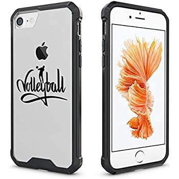 sale retailer 439a1 0572e For Apple iPhone Clear Shockproof Bumper Case Hard Cover Volleyball  Calligraphy (Black For iPhone 6 / 6s)
