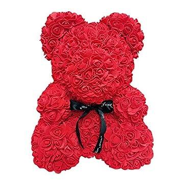 Amazon.com: Oso de peluche de 15.7 in con rosas para ...