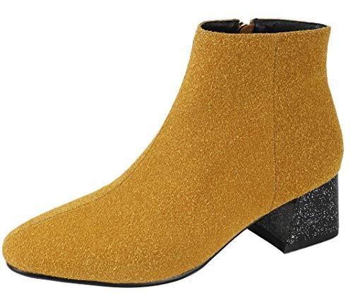 Mavirs Ankle-high Womens Mabark Block Heel Ankle-high Mavirs 5 cm Boots, Suede, 5 B(M) US B07GLQQNSS Shoes f17d53