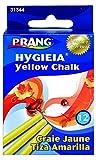 Prang Hygieia Chalk, 3.25 x 0.375 Inch Sticks, Yellow, 12 Pieces (31344)