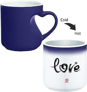 Magic Mug with inner heart handle For Coffee or tea By decalac, mugHM-BLU-02237