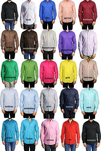 Camicia da uomo angiocardiografia combinato con segni, rosa chiaro, dimensioni, S-5XL rosa chiaro XXXX-Large
