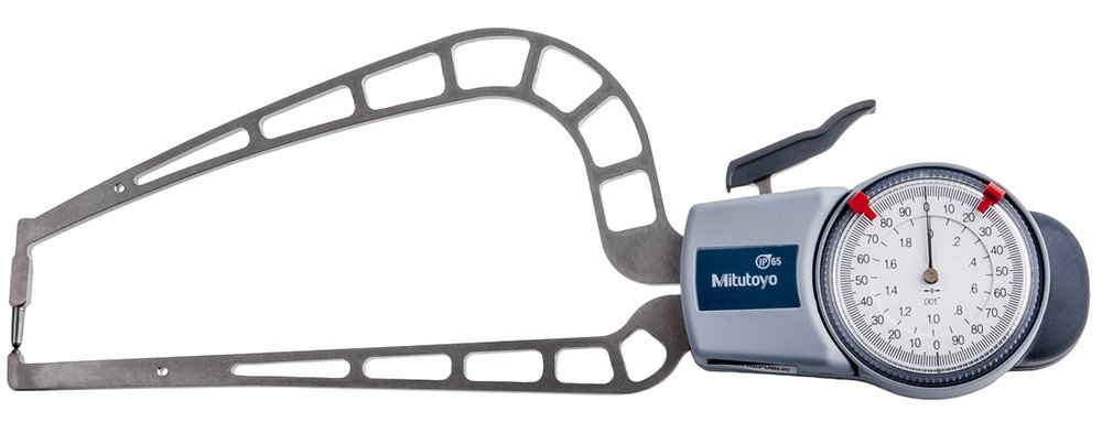 Image of Mitutoyo 209-917 Dial Caliper Gage, 0-2.0', 0.001', 169 mm Depth with External Measurement