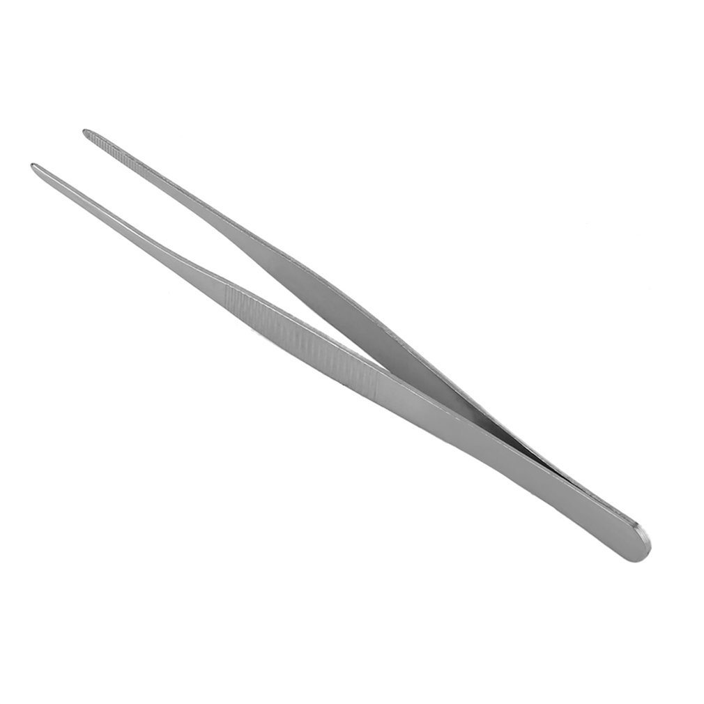 Stainless Steel Long Straight Forceps Tweezers for Medical Purposes and BBQ Practical Kitchen Gadget 16cm Naisidier