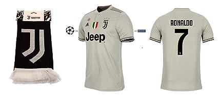 Juventus Turin 2018-2019 Away UCL Ronaldo 7 - Camiseta de ...