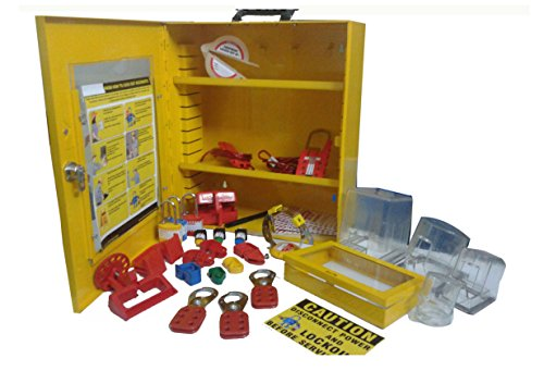 Industrial Lockout Tagout Station Kit-3 by LOTO