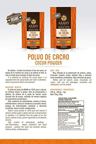 Amazon.com : Certified Organic Cacao Powder, 8 Oz. USDA organic : Grocery & Gourmet Food