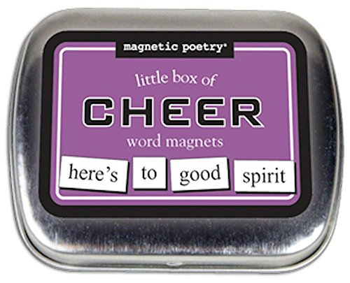Magnetic Poetry - Little Box of Cheer Kit - Words for Refrigerator - Write Poems and Letters on the Fridge - Made in the USA