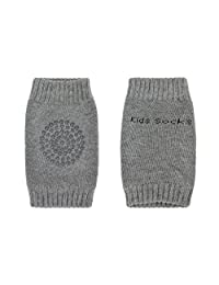 A Pair Unisex Baby Elastic Crawling Knee Pads for 0-36 Months Toddler Infant Girls Boys Breathable Anti-slip Kneepads Knee Elbow Arm Protective Pads Crawling Safety Protector Leg Sleeve Warmers Socks