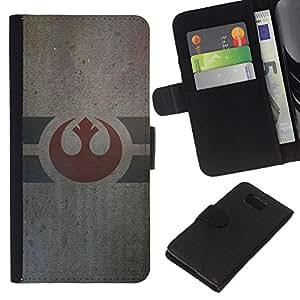 LECELL--Cuero de la tarjeta la carpeta del tirón Smartphone Slots Protección Holder For Samsung ALPHA G850 -- Army Of Alliance --