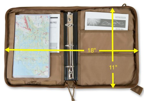 Tactical 3 Ring Binder Cover Military Field Admin Amp Map Case For 9x6 Paper Zippered Coyote