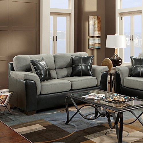 Laredo Brown Leather Dining Chair: Roundhill Furniture Laredo 2-Toned Sofa And Loveseat