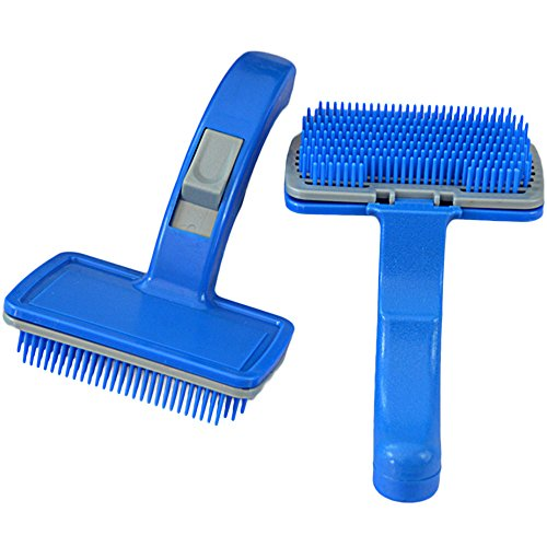 UPC 714402770231, Yunt Quality Pet Dog Cat Self Cleaning Slicker Brush Comb,Gently Removes Loose Undercoat,Mats and Tangled Hair(Medium)