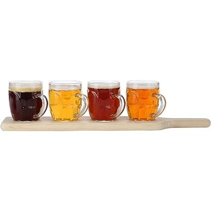 Amazoncom Lilys Home Beer Flight Paddle And Sample Tasting Set