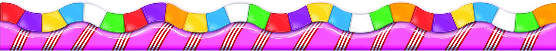 Eureka Candy Land Dimensional Look Deco Trim Extra Wide Die Cut (845152) by Eureka