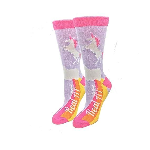Unicornios Talla única para la mayoría de los calcetines Purple Purple Ladies Crew: Amazon.es: Ropa y accesorios