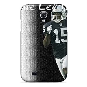 Shock Absorbent Hard Cell-phone Case For Samsung Galaxy S4 (mDK8249MdkH) Custom Colorful Oakland Raiders Skin