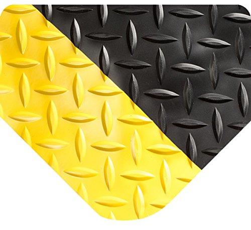 Wearwell 497.58x2x36BYL Smart Diamond Plate Mat, 36' Length x 2' Width x 5/8