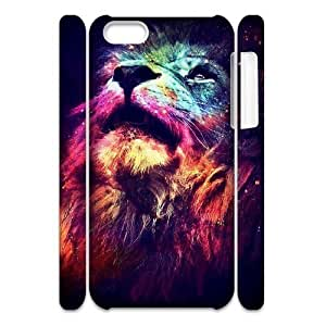 LJF phone case Lion Brand New 3D Cover Case for Iphone 5C,diy case cover ygtg541999