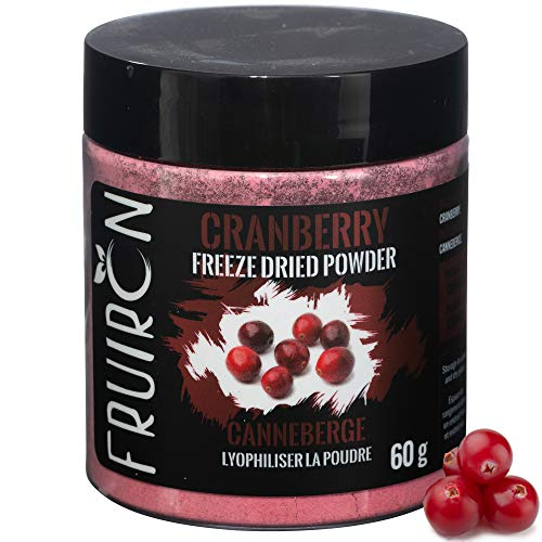 (Fruiron Freeze Dried Cranberry Powder - 60 g (2.12 oz) | Pure Ground Freeze Dried Fruit, All Natural, No Additives, Product Of Canada)