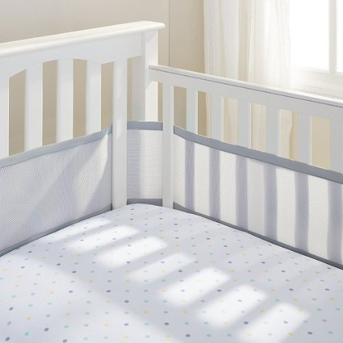 BreathableBaby BreathableMesh Crib Liner - Gray Mist