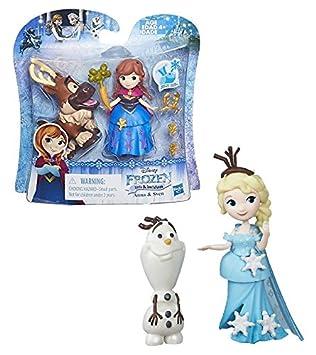 Mini Poup/ée 8 cm Little Kingdom Elsa /& Olaf La Reine des Neiges Disney