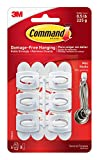Command Mini Hooks, White, 6-Hooks (17006ES)