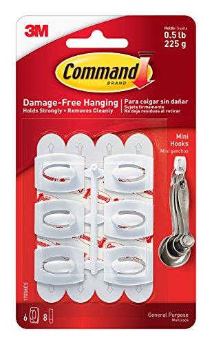 051131705333 - Command Mini Hooks, White, 6-Hooks (17006ES) carousel main 0