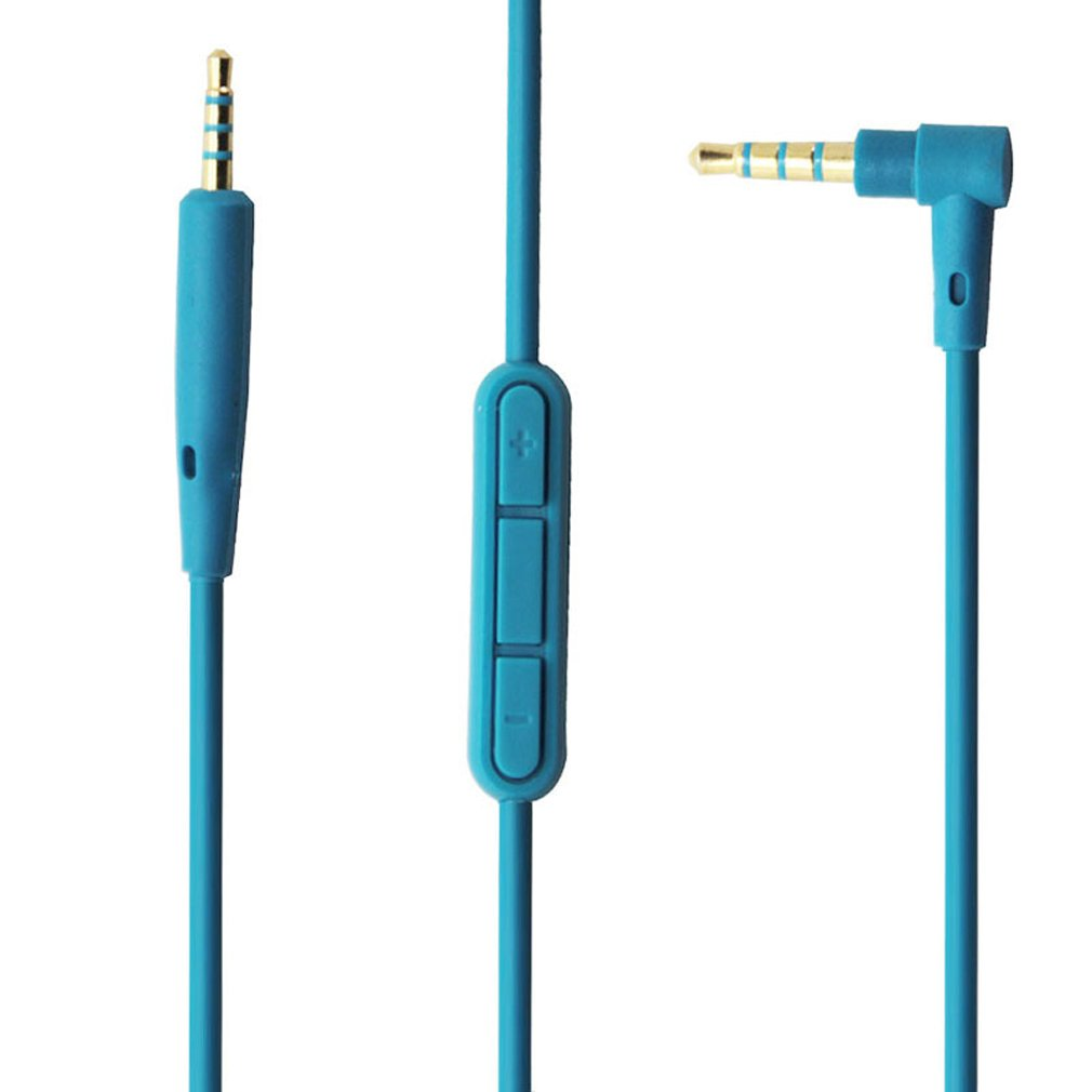 Aleicx Bose QuietComfort QC25 SoundTrue Headphones Replacement Audio Cable Cord for Bose QC25 Quiet Comfort Headphone with Mic Volume Control for iOS Android System (Blue with Mic)