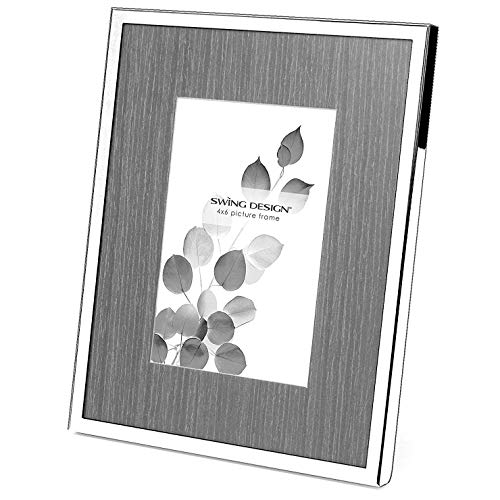 - Swing Design Nolan Picture Frame, 5 by 7-Inch, Silver Plate with Charcoal