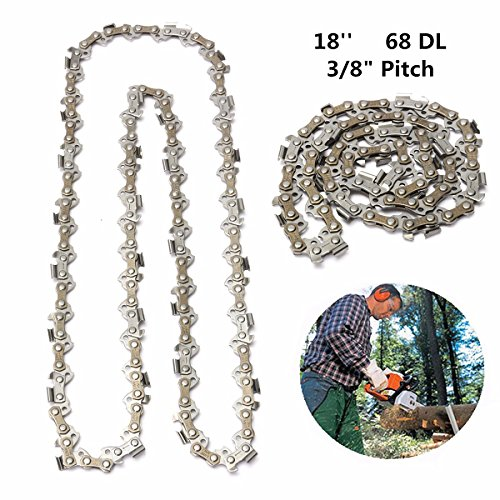 Gas Cap Drive (18 Inch 68 Drive Substitution Chain Saw Saw Mill Chain 3/8 Inch Links Pitch 050 Gauge husqvarna chainsaw mill ripping chain worx parts greenworks)